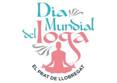 diseño de logotipos El Prat de Llobregat LOGO DIA MUNDIAL YOGA