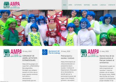 Diseño de webs El Prat de Llobregat - Web ampa colegio Mare de Deu del Carme