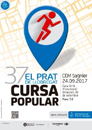 Diseño grafico El Prat de Llobregat-cartel CURSA POPULAR