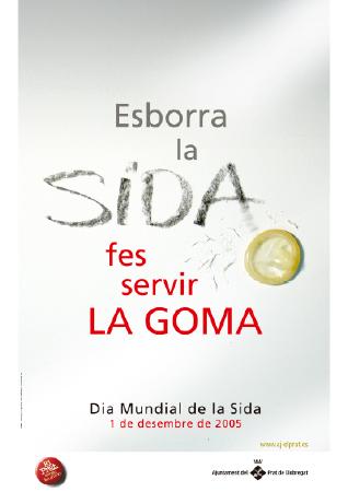 Diseño grafico El Prat de Llobregat-cartel CARTEL SIDA