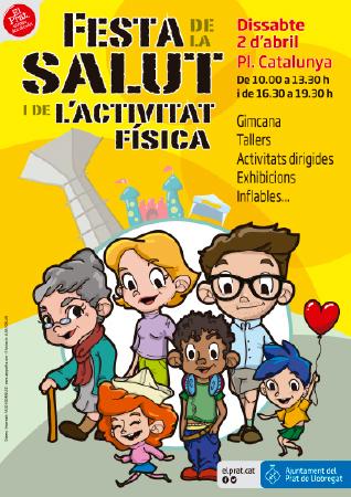 Diseño grafico El Prat de Llobregat-cartel FESTA SALUT 2016