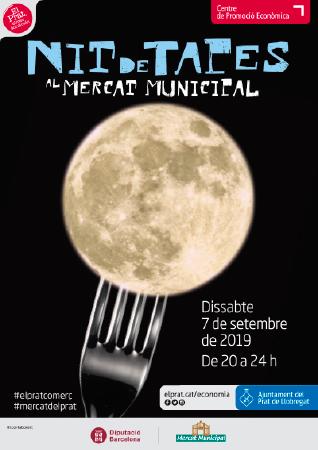 Diseño grafico El Prat de Llobregat-cartel NIT DE TAPAS