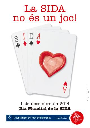 Diseño grafico El Prat de Llobregat-cartel DIA MUNDIAL SIDA