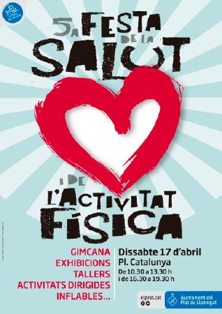 Diseño grafico El Prat de Llobregat-cartel FESTA SALUT 2020