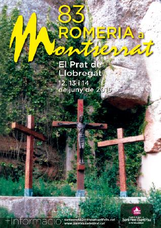 Diseño grafico El Prat de Llobregat-cartel ROMERIA MONTSERRAT