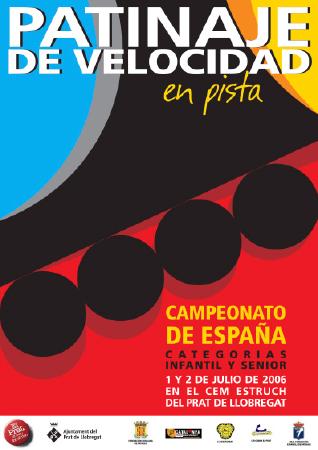 Diseño grafico El Prat de Llobregat-cartel CAMPEONATO PATINAJE VELOCIDAD
