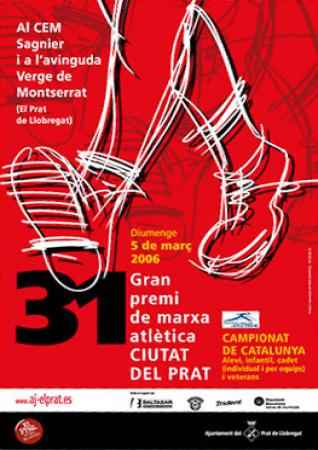 Diseño grafico El Prat de Llobregat-cartel MARCHA ATLETICA