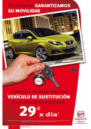 Diseño grafico El Prat de Llobregat-cartel SEAT COCHE SUSTITICION