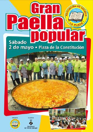 Diseño grafico El Prat de Llobregat-cartel PAELLA POPULAR
