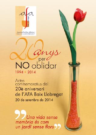 Diseño grafico El Prat de Llobregat-cartel 20 ANIVERSARIO AFA