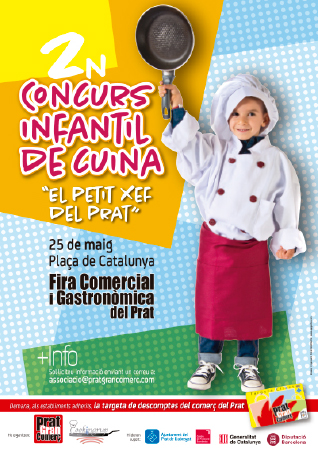 Diseño grafico El Prat de Llobregat-cartel CONCURSO INFANTIL COCINA