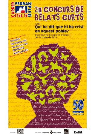 Diseño grafico El Prat de Llobregat-cartel CONCURSO LITERARIO