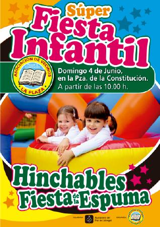 Diseño grafico El Prat de Llobregat-cartel FIESTA INFANTIL