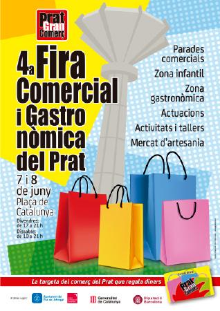 Diseño grafico El Prat de Llobregat-cartel FIRA COMERCIAL
