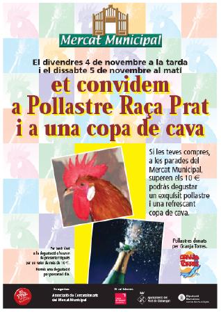 Diseño grafico El Prat de Llobregat-cartel MERCAT MUNICIPAL