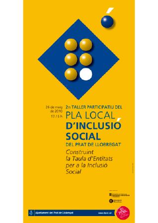 Diseño grafico El Prat de Llobregat-cartel PLA INCLUSIO SOCIAL