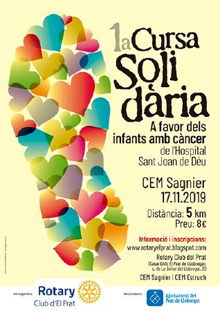 Diseño grafico El Prat de Llobregat-cartel CURSA SOLIDARIA