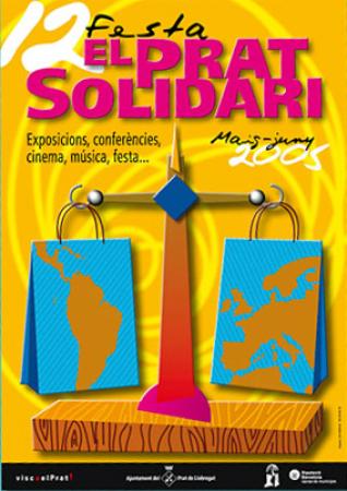 Diseño grafico El Prat de Llobregat-cartel EL PRAT SOLIDARI