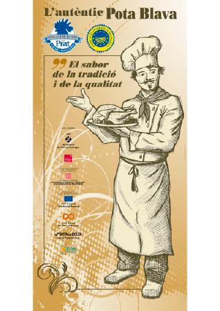 Diseño grafico El Prat de Llobregat-cartel EXPOSITOR CONSELL REGULADOR POLLASTRE I CAPO DEL PRAT