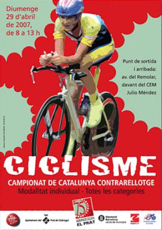 Diseño grafico El Prat de Llobregat-cartel CAMPEONATO CICLISMO