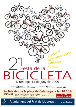 Diseño grafico El Prat de Llobregat-cartel FESTA BICICLETA