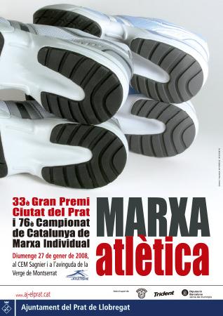 Diseño grafico El Prat de Llobregat-cartel TROFEO MARCHA