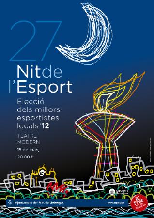 Diseño grafico El Prat de Llobregat-cartel NIT DE L'ESPORT