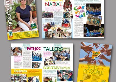 Diseño de revistas en el Prat de Llobregat - REVISTA ENGANXINA AMPA MARE DE DEU DEL CARME
