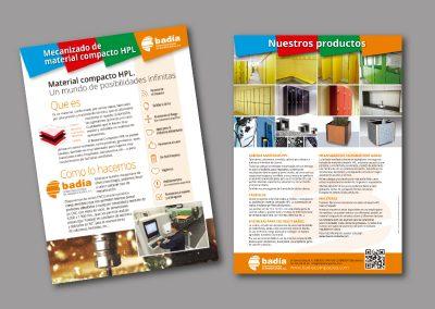 Diseño de folletos en el Prat de Llobregat - FOLLETO COMPACTO BADIA