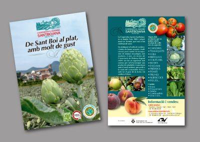 Diseño de folletos en el Prat de Llobregat - FOLLETO COOPERATIVA SANTBOIANA