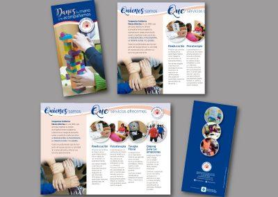 Diseño de folletos en el Prat de Llobregat - FOLLETO TERAPEUTAS SOLIDARIOS