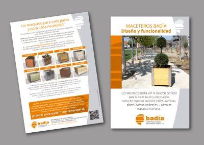 Diseño de folletos en el Prat de Llobregat - FOLLETO MACETEROS BADIA