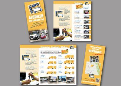 Diseño de folletos en el Prat de Llobregat - FOLLETO SERVI RAPIT