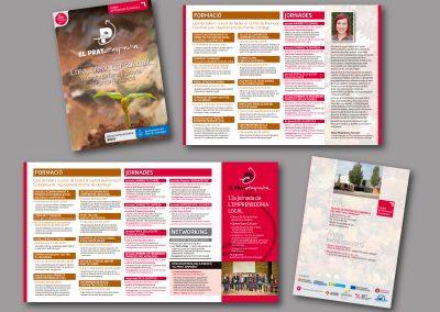 Diseño de folletos en el Prat de Llobregat - FOLLETO LA TARDOR AL PRAT
