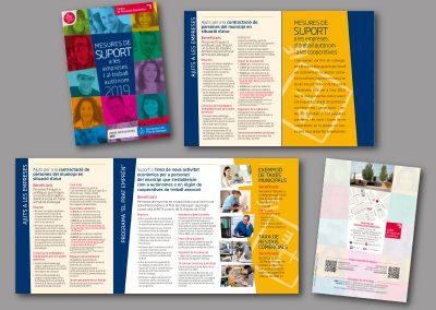 Diseño de folletos en el Prat de Llobregat - FOLLETO MEDIDAS DE SOPORTE
