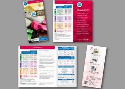 Diseño de folletos en el Prat de Llobregat - FOLLETO ABONAMENTS ESPORTIUS
