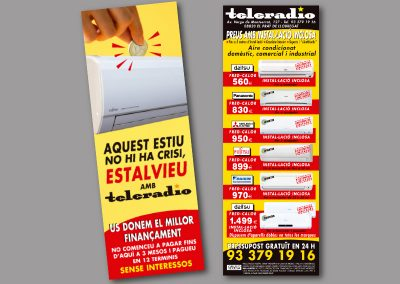 Diseño de folletos en el Prat de Llobregat - FOLLETO TELERADIO 2