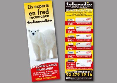Diseño de folletos en el Prat de Llobregat - FOLLETO TELERADIO 1