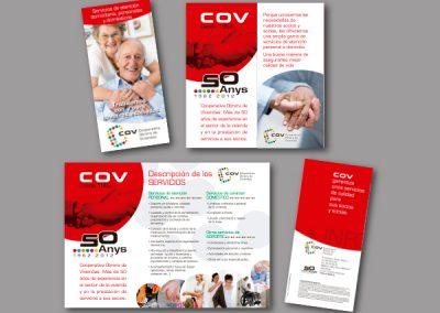 Diseño de folletos en el Prat de Llobregat - FOLLETO COV ASISTENCIA DOMICILIO