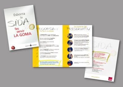 Diseño de folletos en el Prat de Llobregat - FOLLETO SIDA 1