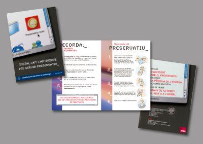 Diseño de folletos en el Prat de Llobregat - FOLLETO SIDA 2