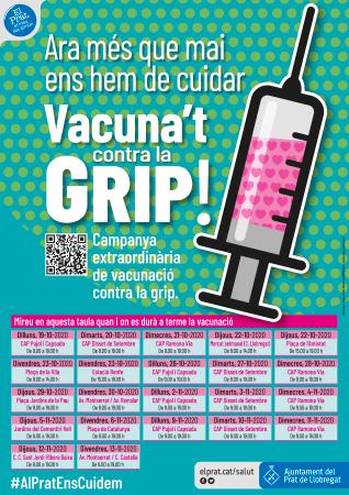 Diseño grafico El Prat de Llobregat-cartel CAMPAÑA VACUNACIÓN GRIPE