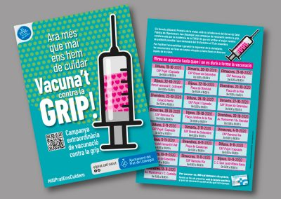 Diseño de folletos en el Prat de Llobregat - FLYER VACUNACION GRIPE